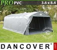 Carpa garaje PRO 3,6x8,4x2,68m PVC, con cubierta de terreno