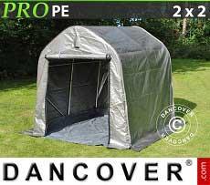 Carpa de almacenamiento PRO 2x2x2m PE, con cubierta de terreno