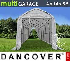 Carpa de almacén multiGarage 4x14x4,5x5,5m, Blanco