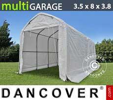 Carpa de almacén multiGarage 3,5x8x3x3,8m, Blanco