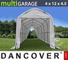 Carpa de almacén multiGarage 4x12x3,5x4,5m, Blanco