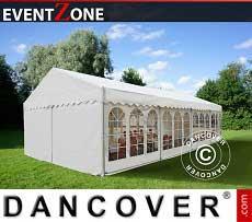 Carpa para eventos profesional EventZone 6x12 m PVC, Blanco