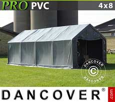 Carpa grande de almacén PRO 4x8x2x3,1m, PVC