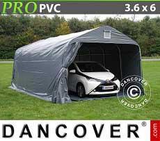 Carpa garaje PRO 3,6x6x2,68m PVC, con cubierta de terreno
