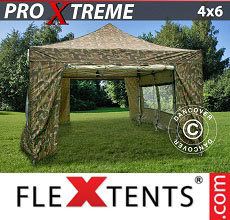 Carpa plegable FleXtents Xtreme 4x6m Camuflaje, Incl. 8 lados