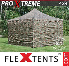Carpa plegable FleXtents Xtreme 4x4m Camuflaje, Incl. 4 lados