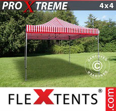 Carpa plegable FleXtents Xtreme 4x4m Rayado