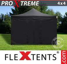 Carpa plegable FleXtents Xtreme 4x4m Negro, Incl. 4 lado