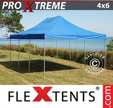 Carpa plegable FleXtents Xtreme 4x6m Azul