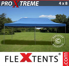 Carpa plegable FleXtents Xtreme 4x8m Azul