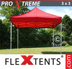 Carpa plegable FleXtents Xtreme 3x3m Rojo