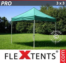 Carpa plegable FleXtents PRO 3x3m Verde