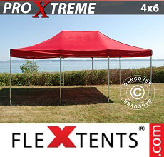 Carpa plegable FleXtents Xtreme 4x6m Rojo