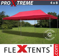 Carpa plegable FleXtents Xtreme 4x8m Rojo
