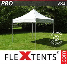 Carpa plegable FleXtents PRO 3x3m Plateado
