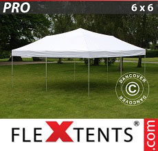 Carpa plegable FleXtents PRO 6x6m Blanco
