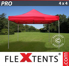 Carpa plegable FleXtents PRO 4x4m Rojo