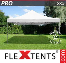 Carpa plegable FleXtents PRO 5x5m Blanco