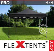 Carpa plegable FleXtents PRO 4x4m Negro
