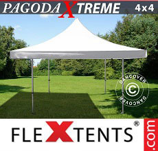 Carpa plegable FleXtents Pagoda Xtreme 4x4m / (5x5m) Blanco