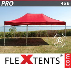 Carpa plegable FleXtents PRO 4x6m Rojo