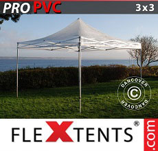 Carpa plegable FleXtents PRO 3x3m Transparente