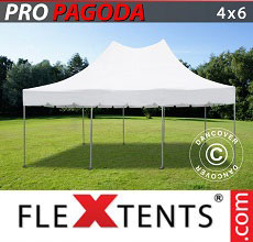 Carpa plegable FleXtents PRO Peak Pagoda 4x6m Blanco