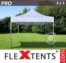 Carpa plegable FleXtents PRO 3x3m Blanco
