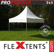 Carpa plegable FleXtents PRO Peak Pagoda 3x3m Blanco