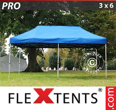 Carpa plegable FleXtents PRO 3x6m Azul