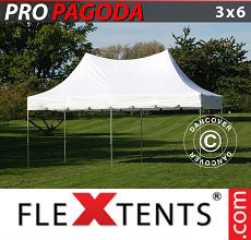Carpa plegable FleXtents PRO Peak Pagoda 3x6m Blanco