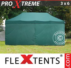 Carpa plegable FleXtents Xtreme 3x6m Verde, Incl. 6 lados