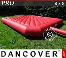 Colchoneta hinchable 6x6m, Roja, calidad para alquiler
