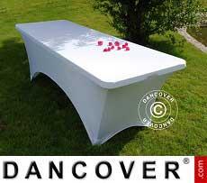 Cubierta flexible para mesa, 200x90x74cm, Blanco