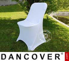 Cubierta flexible para silla, 44x44x80cm, Blanco (1 piezas)