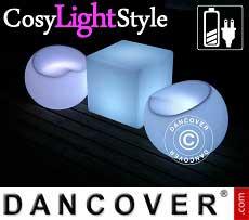 Muebles LED, 1 mesa + 2 sillas