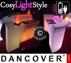 Bar LED, mesa esquinera