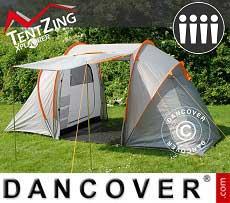 Tienda de campaña, TentZing® Xplorer familiar, 4 personas, Naranja/Gris
