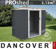 Caseta de jardín ProShed con techo plano, 2,01x1,21x1,76m, Antracita