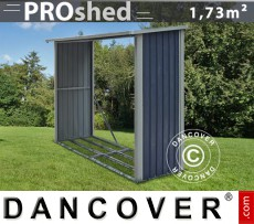 Unidad de almacenamiento de madera ProShed 2,42x0,89x1,56m, Antracita