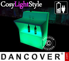 Bar LED con mesa, mesa mediana