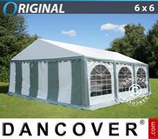 Carpa para fiestas Original 6x6m PVC, Gris/Blanco