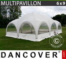 Carpa para fiestasMultipavillon en forma de cúpula 6x9m, Blanca