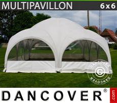 Carpa para fiestas Multipavillon en forma de cúpula 6x6m, Blanca