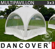Carpa para fiestasMultipavillon en forma de cúpula 3x3m, Blanca