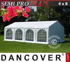 Carpa para fiestas SEMI PRO Plus 4x8m PVC, Blanco