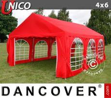 Carpa para fiestas UNICO 4x6m, Rojo