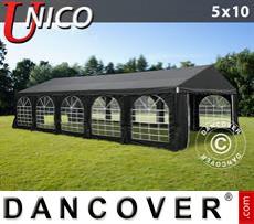 Carpa para fiestas UNICO 5x10m, Negro