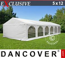 Carpa para fiestas Exclusive 5x12m PVC, Blanco