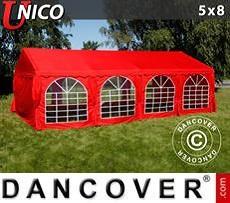 Carpas para fiestas UNICO 5x8m, Rojo